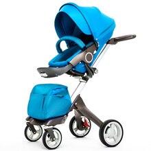 Aulon рассказывает детская коляска складной свет качества ребенка тачку четыре колеса