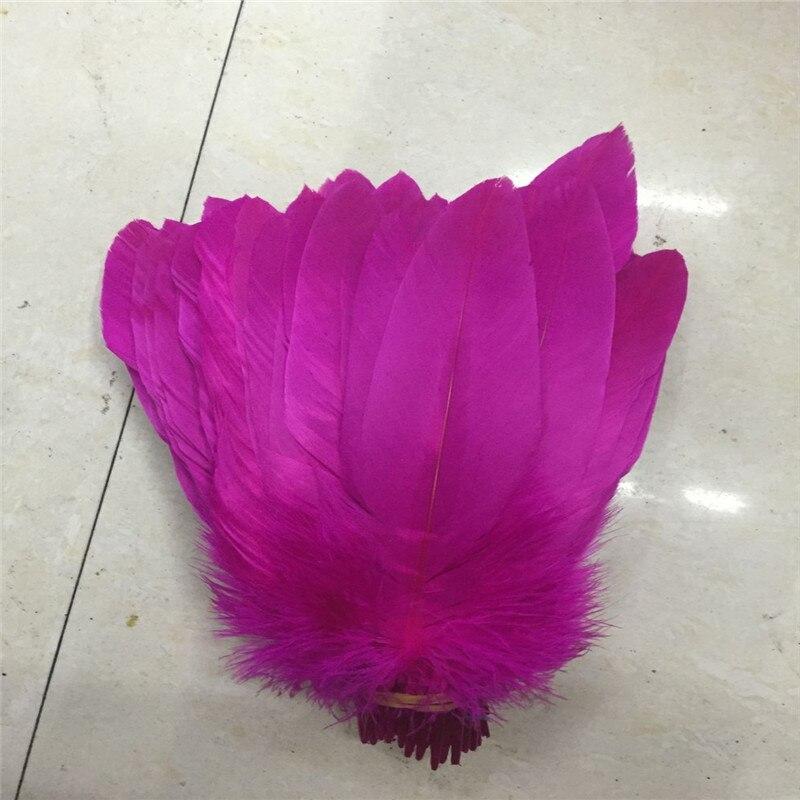 Décoloration de plumes naturelles précieuses plumes de faisan aigle 20 racine belle 10-12 pouces 25-30 cm/cm colorant rouge.