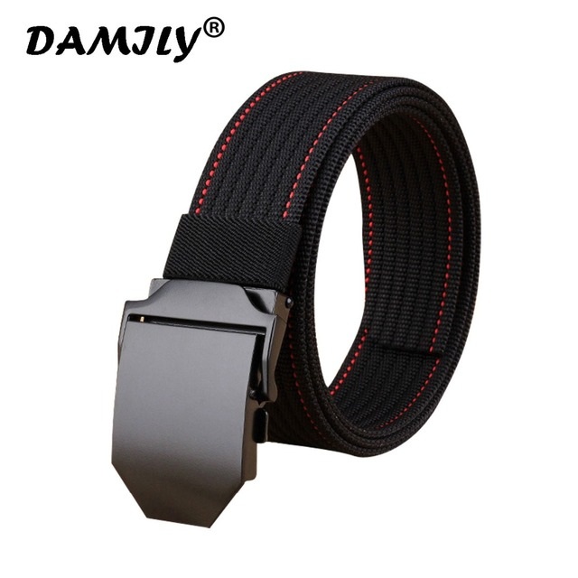Nuevos hombres cinturón diseñador marca hebilla automática cinturón de estilo  Casual Tactical Nylon cinturón para los 472c41f1c6e5