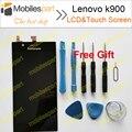 Lenovo k900 pantalla lcd 100% pantalla de visualización original del lcd + reemplazo de la pantalla táctil para lenovo k900 smartphone envío gratis