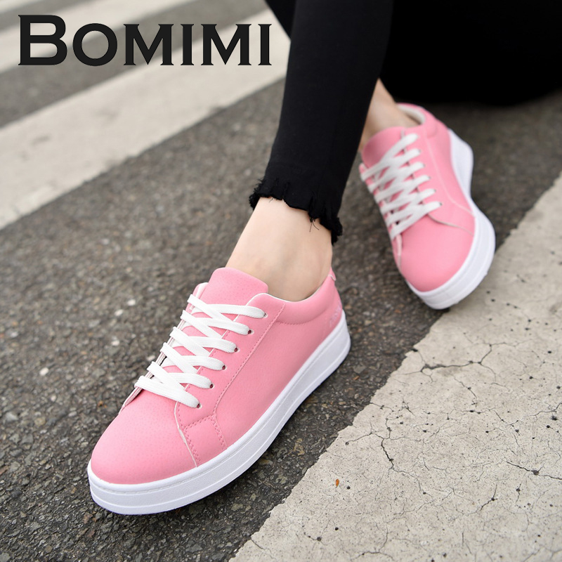 BOMIMI Women Sneakers Women Lovers Vulcanize Shoes Flat Heel Fashion Women Canvas Shoes Casual Light Loafers brand quality the walking dead canvas shoes printed women casual flat shoes diy couples and lovers valentine gifts graffiti shoe