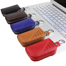 Brand Key Holder Wallet Women Men Genuine Leather 2019 New Home Keys Housekeeper Purse Car Key Case Keychain Pouch Organizer Bag цены онлайн