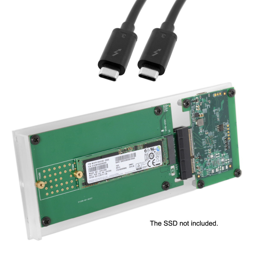 Thunderbolt3 to NGFF M-key NVME AHCI SSD to PCI Express PCI-E Convert Card Cable
