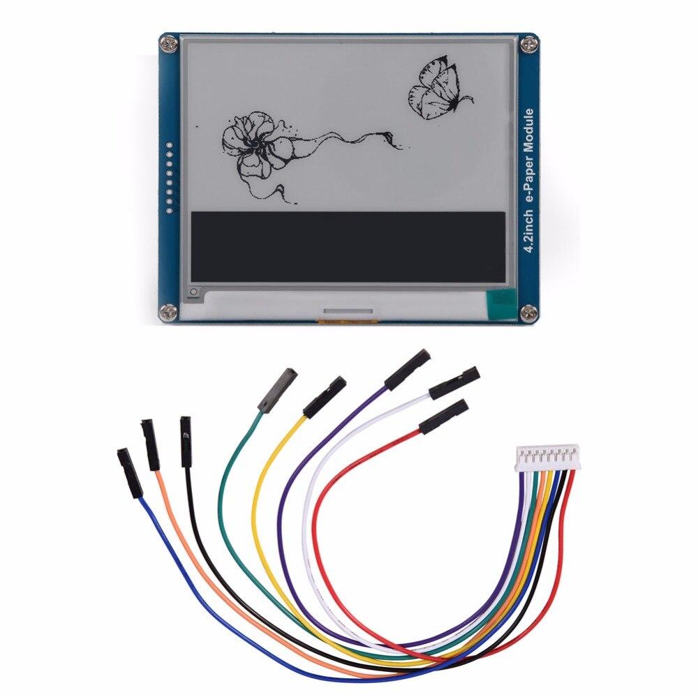 4 2inch E-Ink Display Module 400x300 E-paper Module Black White SPI for  Raspberry Pi /Arduino High Quality Free Shipping