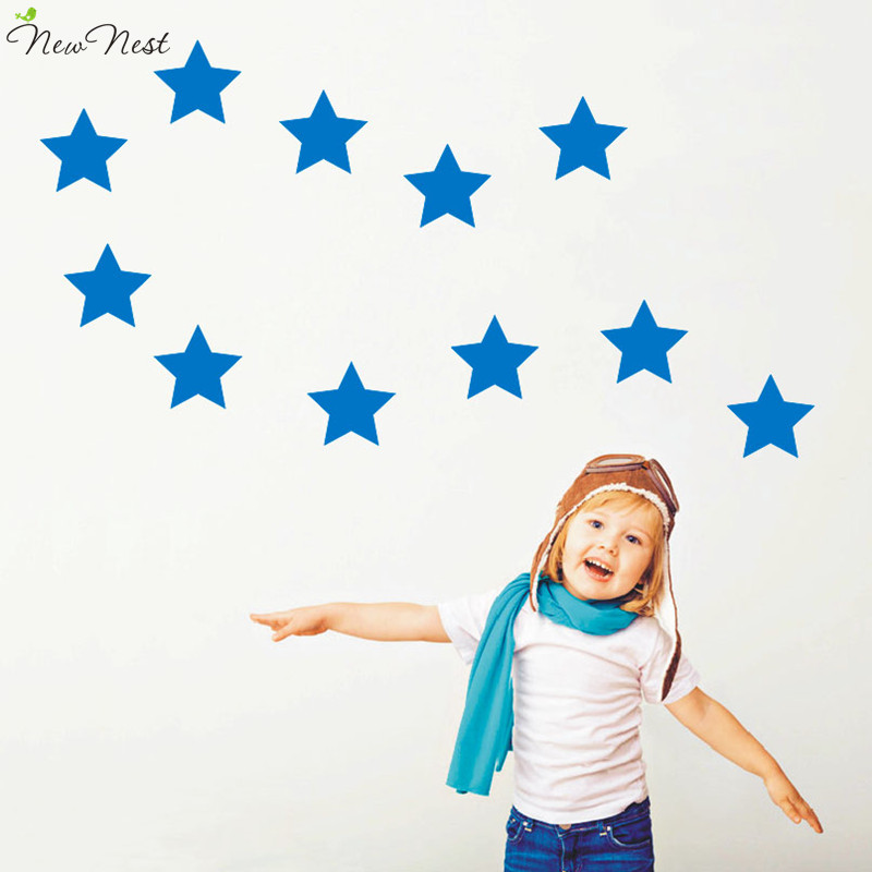 10 Big Stars Wall Sticker Home Decor Bedroom Wall Stickers Office Decal Wall Shapes Baby Kids Bedroom Decor Vinyl Wall Art