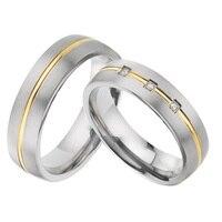 2019 индивидуальные союзы обручальное кольцо пара колец набор для мужчин и женщин титановые Ювелирные изделия юбилей обещание кольца пара