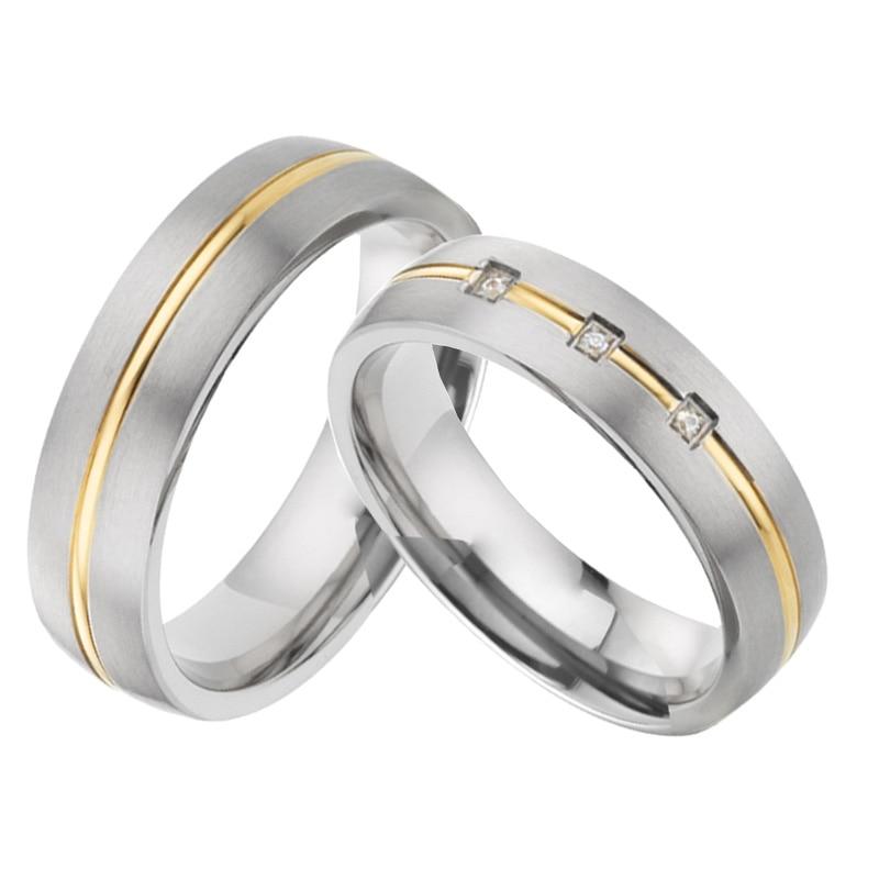 2019 personnalisé Alliances wedding band couple anneaux set pour hommes et femmes titanium bijoux anniversaire promesse anneaux paire