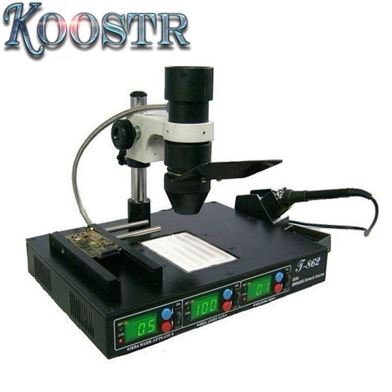 110v/220v Puhui T862 0-450c 1500w Rework Station T-862 Infrared Smt Smd Irda Bga Welder ,ph30002