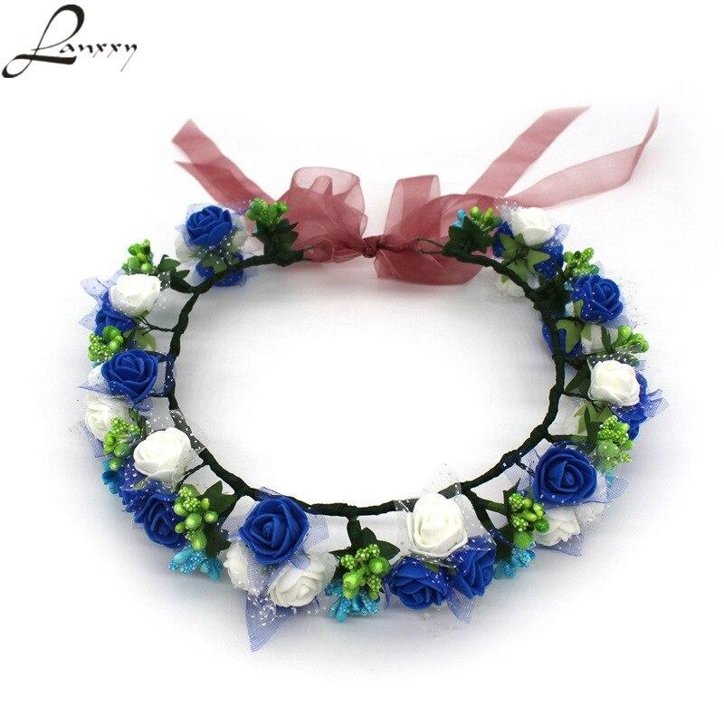 Lanxxy Nowości Kobiety Ślubne Opaski do włosów Kwiaty Akcesoria - Akcesoria odzieżowe