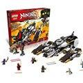 Лепин 06038 Совместимость Ninjagoes Ультра Стелс Raider 70595 Строительные блоки Кирпич Ниндзя Фигура Игрушки Для Детей