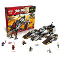 Lepin 06038 Compatible Ninjagoes Ultra Stealth Raider 70595 Building blocks Bricks Ninja Figure Toys For Children
