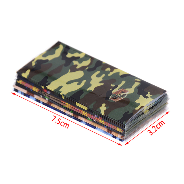5 pièces/lot 18650 batterie emballage autocollant Camouflage Style Tube enveloppe rétractable isolant PVC protégé couverture peau décoration