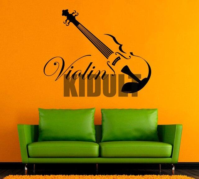 Music Symbol Violin Wall Decals Creative Home Interior Wall Text