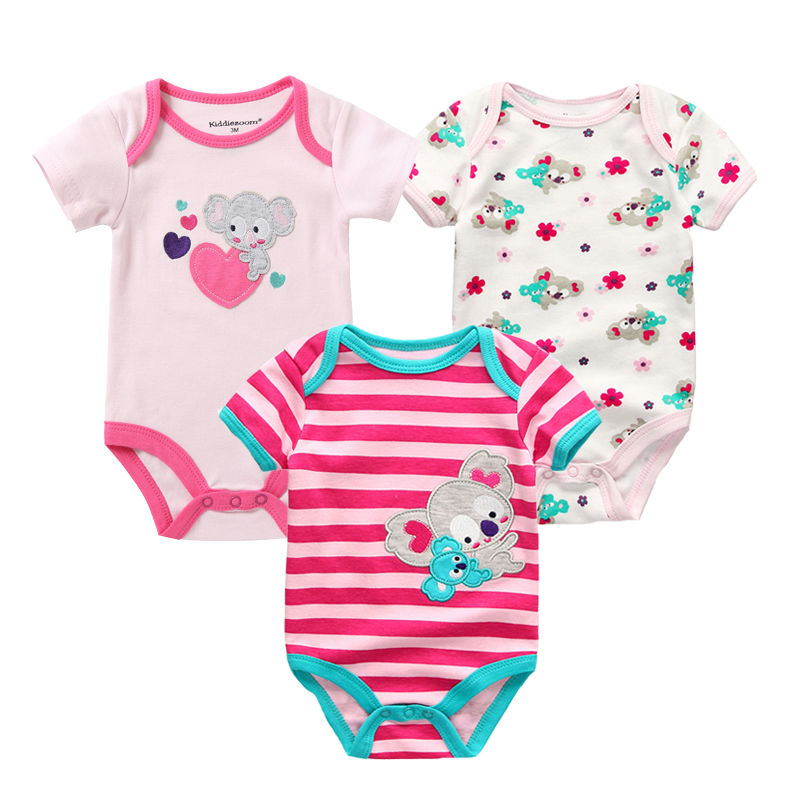 3PCS-Newborn-Baby-Rompers-Unisex-Infant-Clothes-Cotton-Short-Sleeves-Baby-Boy-Girl-Clothing-Cute-Cartoon-O-Neck-Striped-0-9M-2