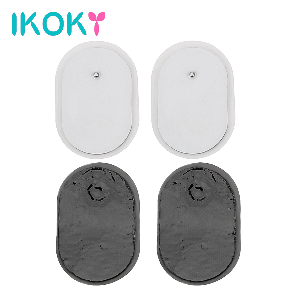 IKOKY Adult Games Massage Pads Electrode Patches <font><b>Sex</b></font> <font><b>Toys</b></font> for Women <font><b>4Pcs</b></font>/<font><b>set</b></font> Adsorption Paste <font><b>Sex</b></font> Products image