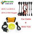Mais novo 2015.1 Multi-Veículo Diag Ferramenta de Diagnóstico Para O Carro/Caminhão TCS CDP PRO MVDiag MVD + 8 Completa conjunto de Cabos Carro TCS MVD