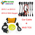 Newest 2015.1 Multi-Vehicle Diag Diagnostic Tool For Car/Truck  MVD TCS CDP PRO MVDiag+ 8 Full Set Car Cables MVD TCS