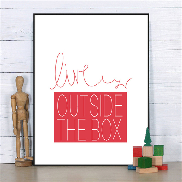 Live Outside No Frame DIY Minimalist Nordic Typography Canvas Mural ...