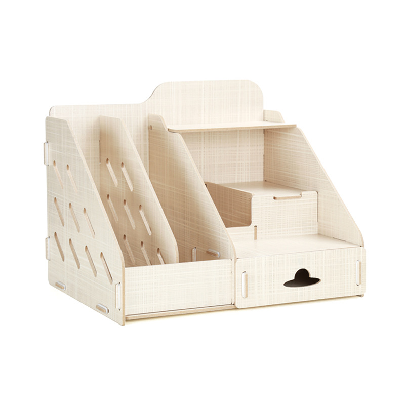 цена на Creative file tray simple Wooden Office Desk File Racks Book Box Office Supplies Storage Box Magazine Bills Shelves