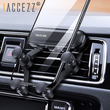 !ACCEZZ Universal Car Phone Holder in Air Vent Mount For iPhone X XS Max Samsung Xiaomi One Hand Operate Stand Bracket