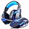 Jogos fones de ouvido e jogo mouse com fio estéreo gamer fone de ouvido + gamer ratos 3200 dpi ajustável led luz óptica usb