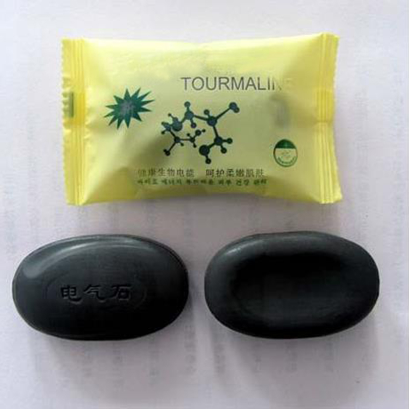 Black New Tourmaline Soap Personal Care Soap Face & Body Beauty Healthy Care SSwell(China)