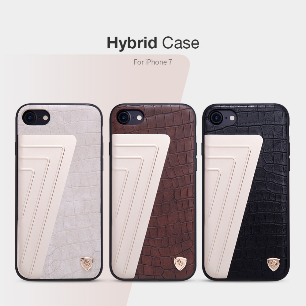 imágenes para Para apple iphone 7 case nillkin original híbrido contraportada de cuero casos para el teléfono iphone 7 4.7 back covers para iphone case