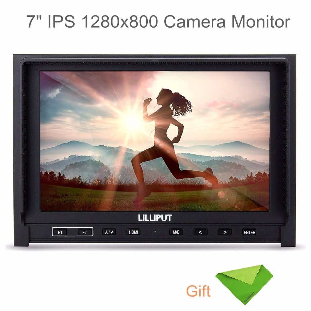 Lilliput 7 339 IPS 1280x800 Camera Monitor Slim HDMI Input AV In&out Comes With 2600mah Battery+EACHSHOT Cleaning ClothLilliput 7 339 IPS 1280x800 Camera Monitor Slim HDMI Input AV In&out Comes With 2600mah Battery+EACHSHOT Cleaning Cloth