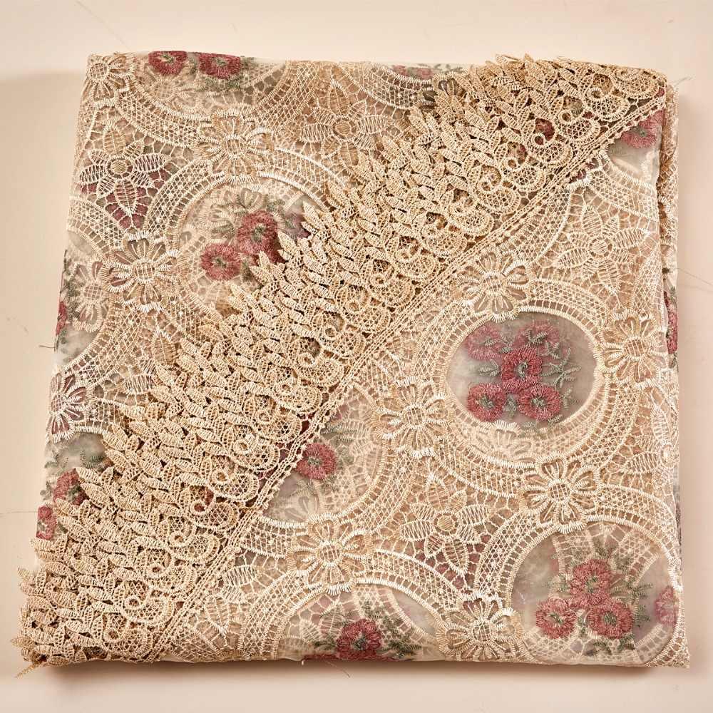 Elegante 180 cm Ronde Geborduurde Bloemen Bruiloft Banket tafelkleed Gehaakte Lace Tafel Mat Grote Tafel Cover Tafelkleden
