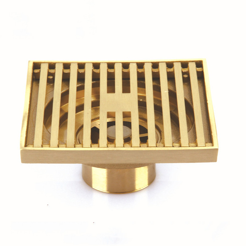 Brass Square Antique Bronze Bathroom Floor Drain Waste Grate Shower Drainer 100*100mm oil rubbed bronze square floor drain cover bathroom 4 inch waste drainer free shipping