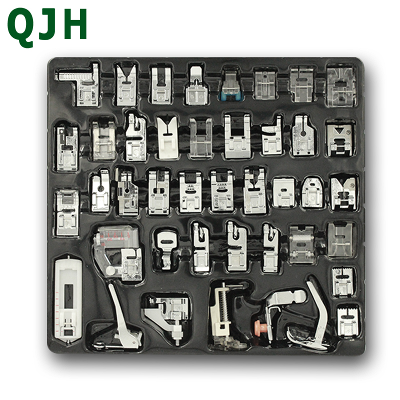 42 Pcs knitting needle Household Sewing Machine Braiding Blind Stitch Darning Presser Foot Feet Kit Set For Brother Singer Janom