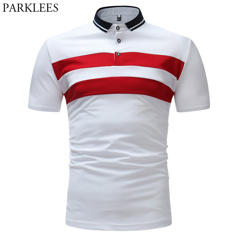 Men Striped Printed   Polo   Shirt 2018 High Quality Slim Fit Short Sleeve   Polo   Homme Casual Brand   Polos   Para Hombre Mens Clothing
