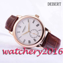 Casual 40mm Debert white dial rose golden case Automatic self-wind movement men's Watch