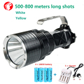 Poderoso LED Caça Lanterna 18650 cree xm-l2 Amarelo Branco 2 cores opcionais luz de iluminação Ao Ar Livre Portátil à prova d' água