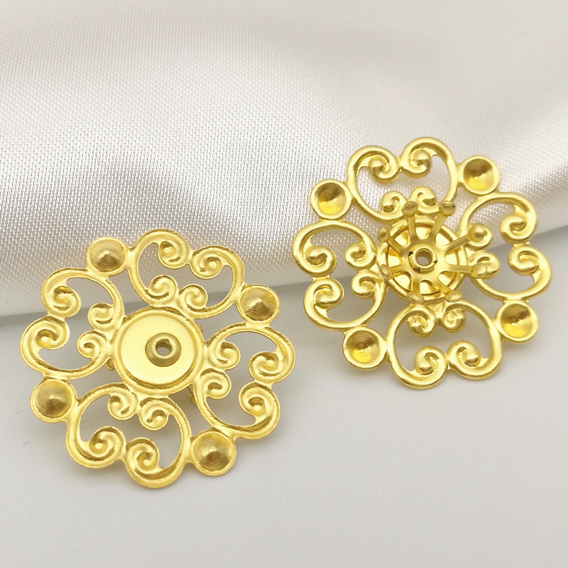 20pieces/lot 20mm Original Brass Components Flowers Charms Jewelry Filigree Accessory Findings B10028