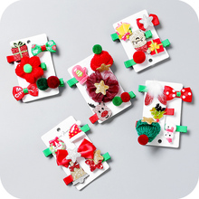Christmas Holiday Cat Dog Hair Bows Cute Pet Grooming Hairpin Puppies A