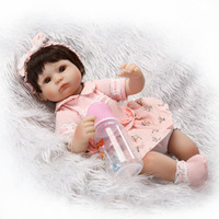 16 Inch Lifelike Reborn Baby Dolls Girl Gifts Soft Silicone Toy Alive Simulation Toddler Babies Doll