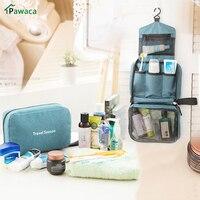 Portable Waterproof Folding Bathroom Bag Travel Toiletry Hanging Holder Organizer Cosmetic Makeup Container Handbag Storage Bag