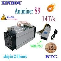 Используется ASIC шахтер AntMiner S9 14 T/s SHA256 (с БП) Btc МПБ Шахтер лучше чем AntMiner S9 13,5 т T9 V9 whatsminer m3