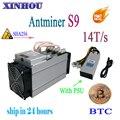 Используется ASIC miner AntMiner S9 14 T/s SHA256 (с PSU) Btc BCH Miner лучше чем AntMiner S9 13,5 T T9 T15 S15 whatsminer m3 Baikal