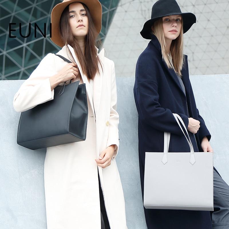 EUNI Luxury Handbags Women Bags Designer Brand Women Large Capacity Tote Bag Fashion Famous Brand Women Leather Handbags N45