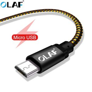 OLAF Micro USB Cable 1m 2m 3m fast charging Data Sync Cord For Samsung S7 Huawei Xiaomi LG Andriod Microusb Mobile Phone Cables