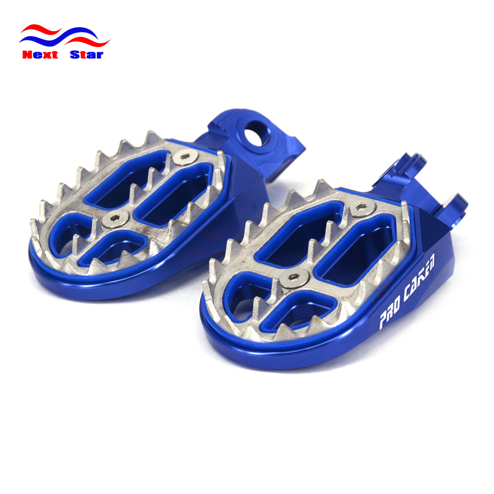 MX Foot Pegs Motocross Dirt Bike Footrests L /& R For 1999-2013 Yamaha YZ250