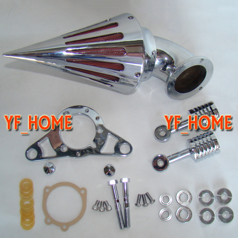 Cone Spike Air Cleaner Filter Intake Kit For Harley Dyna Softail Touring Fatboy Motorcycle Replacement