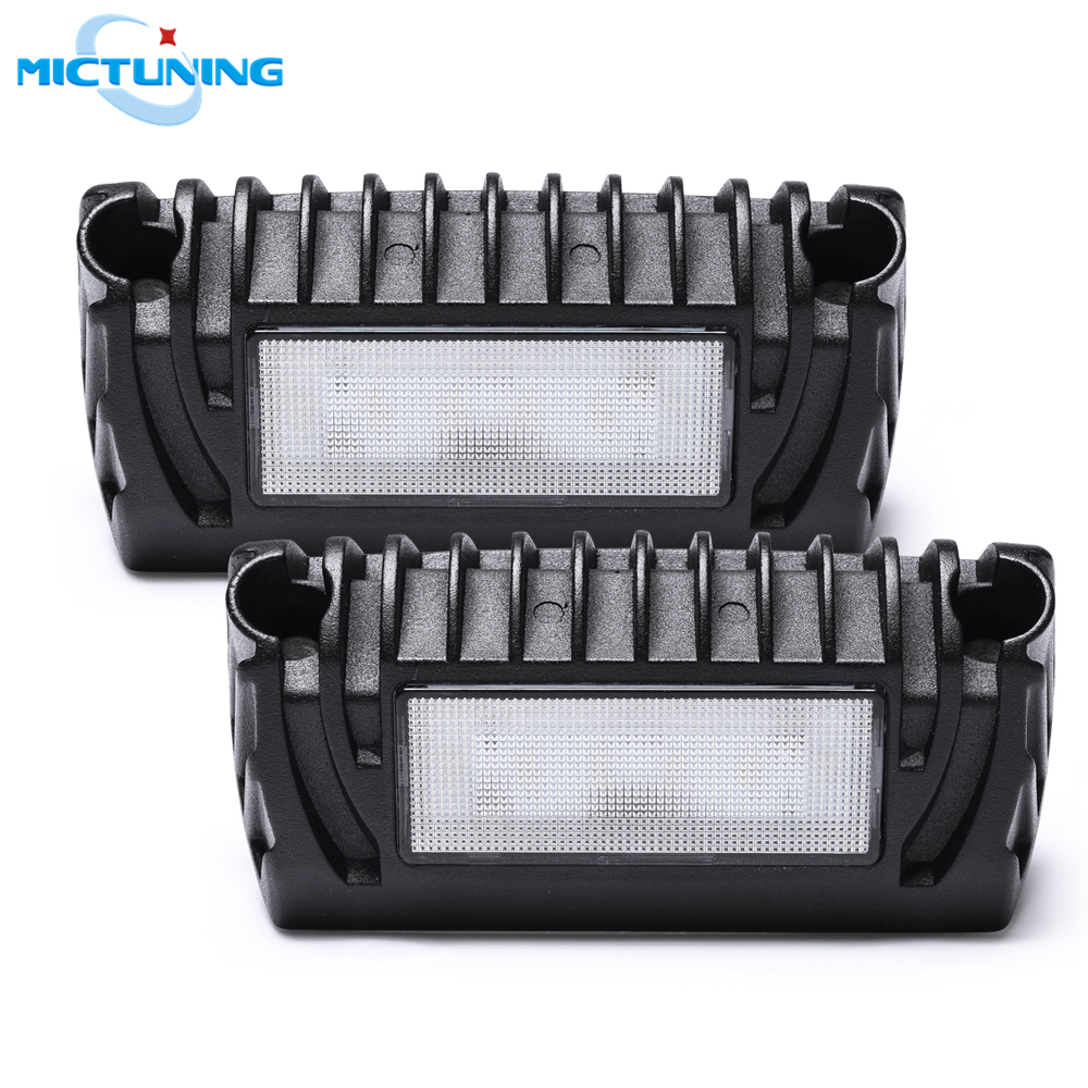 MICTUNING 2pcs RV Exterior LED Porch Utility Light 12V 750Lumen Awning Lights Replacement Lighting Lamp for