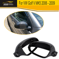 Replace Styling Carbon Fiber Side Rear Mirror Covers house For VW Golf V MK5 2006 2007 2008 2009