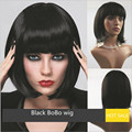 Hot Sale Black Women Synthetic Hair wig, Cosplay wigs for Women Short BOBO Wigs with Bang High Quality