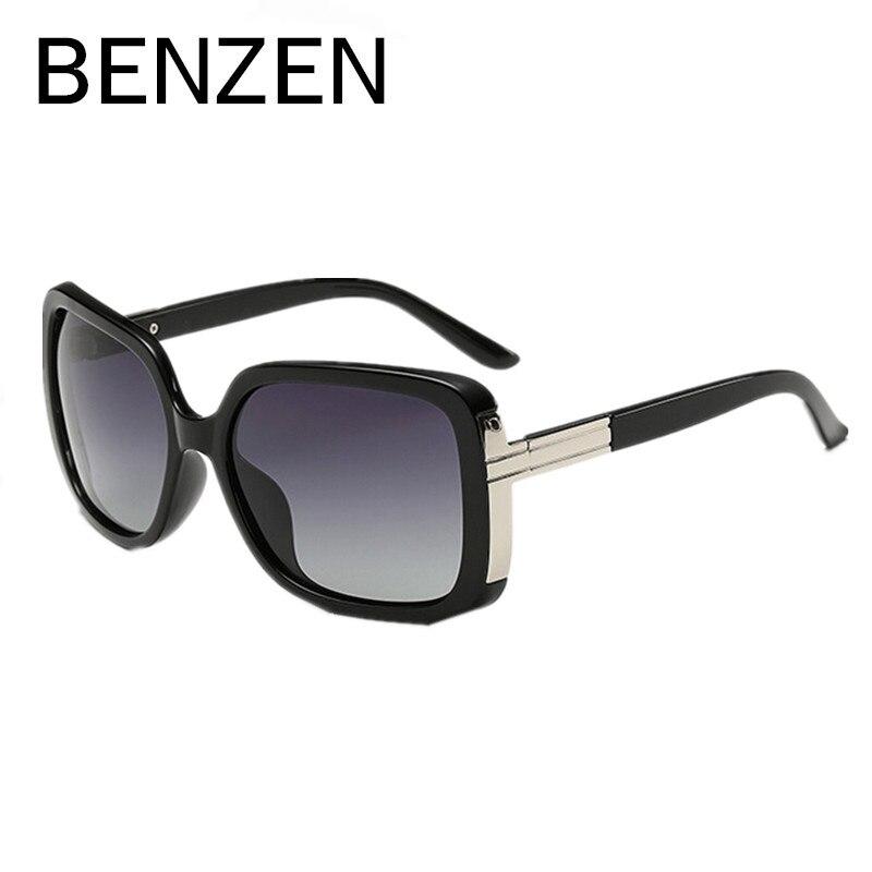 95aeb0372 BENZEN Polarizadas Óculos De Sol Das Mulheres de Grandes Dimensões Retro  Feminino Óculos de Sol Para A Condução Shades Gafas UV 400 Preto Com Caixa  6131