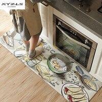 XYZLS Anti slip Kitchen Mat Modern Waterproof Carpets PU Printed Entrance Doormat Tapete Bedroom Living Room Floor Mats 1Piece
