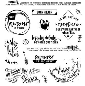 Francuski przezroczysty pieczęć silikonowa pieczęć do DIY scrapbooking ozdobny album na zdjęcia wyczyść pieczęć 812 tanie i dobre opinie RUBBER CNHKWFH